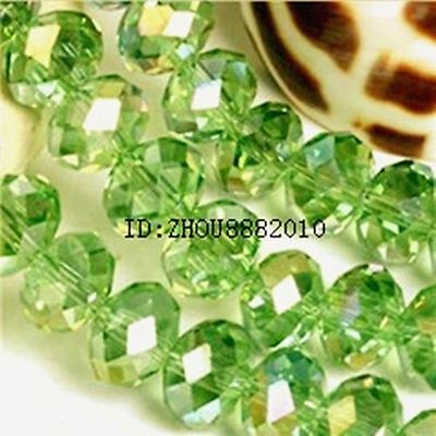 Fashion jewelry Green 50pcs 12x10mm Swarovski Crystal Loose Beads
