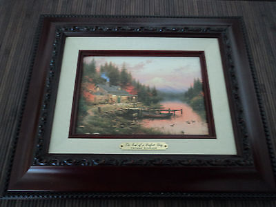 Thomas Kinkade End of a Perfect Day/Cert. of Auth.