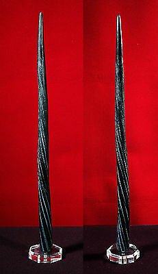 Legendary BLACK UNICORN HORN Direct Copy of Actual NARWHAL Whale TUSK / TOOTH