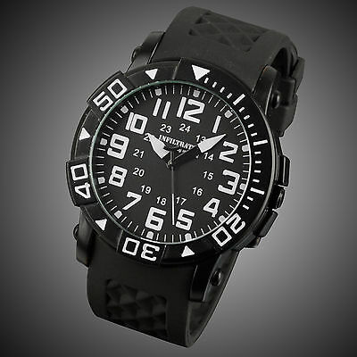 New INFANTRY Mens Sport Quartz Russian Army Rubber Stainless Steel Wrist Watch