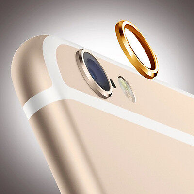 Gold Camera Lens Case Cover Protective Ring Installed for Apple iPhone 6 Plus