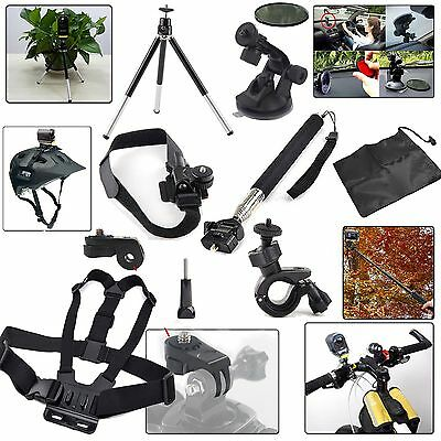 HSKit Accessories Mount Kit for Sony Action Cam HDR AS15 AS20 AS30V AS100V Gift