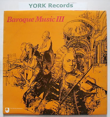 A304 OU10 - BAROQUE MUSIC III - Excellent Con LP Record