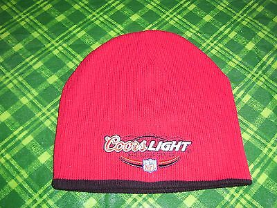 COORS LIGHT BEER WINTER BEANIE HAT NFL FOOTBALL RED