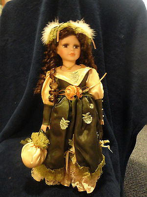 """""""Melanie""""  Emerald Doll Collection Porcelain Doll"""