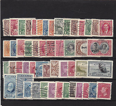 CANADA LOT OF EARLY USED STAMPS