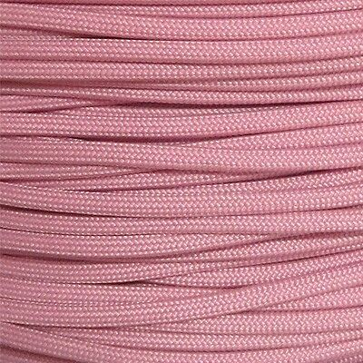 Lavender 550-LB Paracord Type III 7 strand parachute cord 100 ft Woven Pink