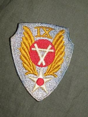 PATCH WW2 US ARMY AIR FORCE IX AVIATION ENGINEERS THEATER MADE ORIGINAL