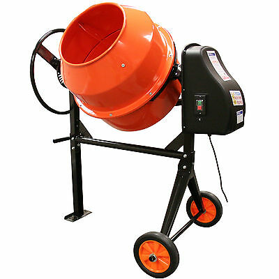 140L Electric Cement Plaster Mortar Concrete Grass Animal Feed Mixer Portable