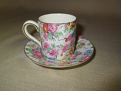 BCM Lord Nelson Ware BRIAR ROSE Chintz Cup and Saucer Made in England Teacup
