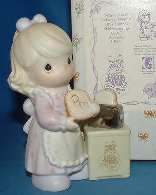 "Precious Moments ""A Special Toast to Precious Moments"" Membership Figurine"