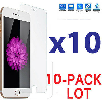 10x Wholesale Lot Tempered Glass Screen Protector for Apple iPhone 6