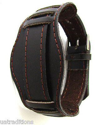 18mm DARK BROWN OLD MILITARY VINTAGE Original Leather Soviet Russian Watch Band