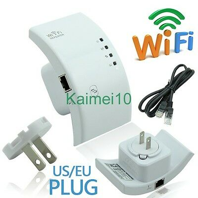 US Plug Wireless-N WiFi Repeater 802.11n Router Signal Extender Booster 300Mbps