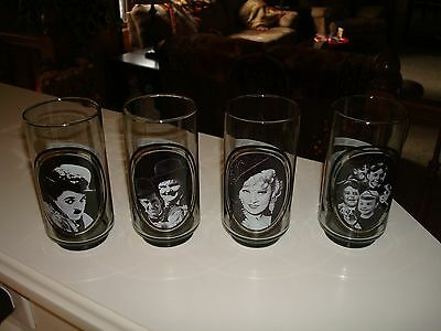 1979 Arby's Collector Glasses Charlie Chaplin Laurel & Hardy Mae West Rascals