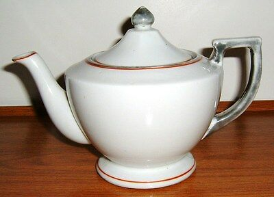 Vintage White Tea Pot Made in Japan Hand Painted