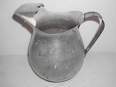Vintage Pure Aluminum Pitcher Made in the U.S.A.  8 inches tall