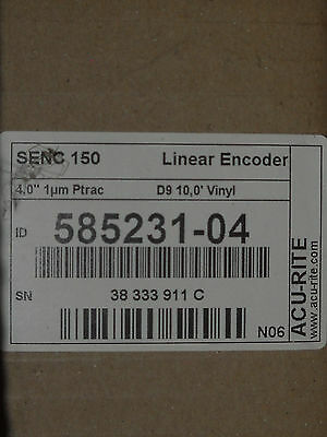 "Acu-Rite SENC 150 1um Linear Scale, 4"" Readable length,  PN 585231-04"