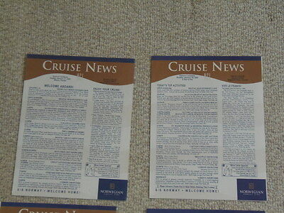 NCL Lot of 7 Cruise News S.S. SS Norway France Daily Activity 1/27-2/3 2002