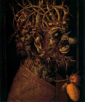 Oil panting Giuseppe Arcimboldo - The Winter Elder portrait no framed canvas 36""
