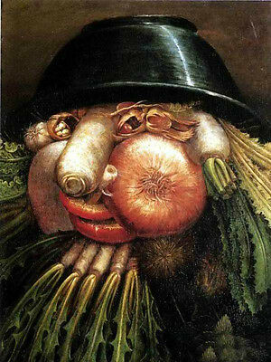 Oil panting Giuseppe Arcimboldo - Vegetables lovely and cute portrait on canvas