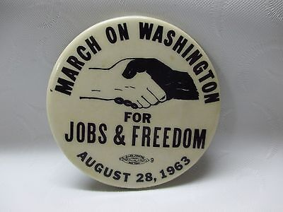 1963 ORIGINAL MARCH ON WASHINGTON FOR JOBS & FREEDOM PIN PINBACK