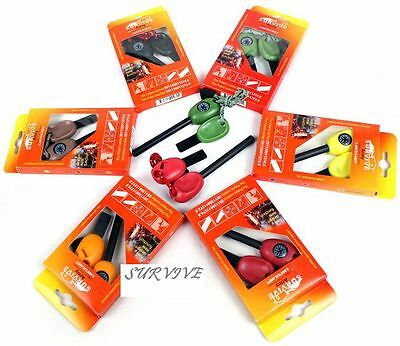 MULTI TOOL EMERGENCY GEAR FIRE STARTER FLINT + WHISTLE + COMPASS + SAWS + RULER