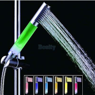 Bathroom Automatic 7-Color Changing Sprayer Nozzle 4 LED Light Shower Spray Head