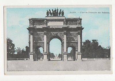 Paris Arc de Triomphe des Tuileries Vintage Postcard France 0964