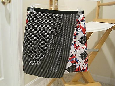 PETER PILOTTO TARGET ABSTRACT FLORAL SKIRT RED WHITE BLUE BLACK SIZE 10!!!!!
