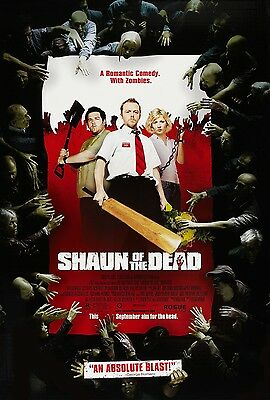SHAUN OF THE DEAD movie poster print  : SIMON PEGG, NICK FROST : 11 x 17 inches