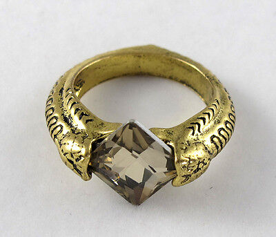 New Harry Deathly Hallows Horcrux Ring Gold Rhinestone Ring Gift Size 9 @320