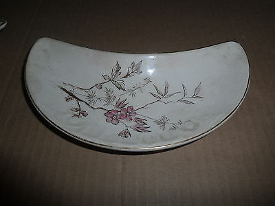 BRIDGEWOOD & SONS PINK FLOWER BONE DISH