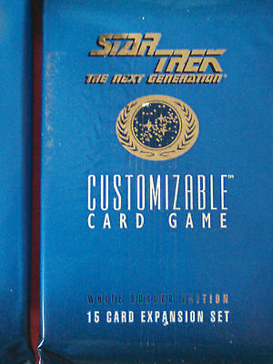 Star Trek Ccg Five Factory Sealed Booster Packs 1St Ed Unlimited Premire White95