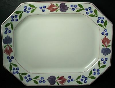 "ADAMS (Wedgwood) china OLD COLONIAL new backstamp OVAL MEAT Serving PLATTER 13""+"