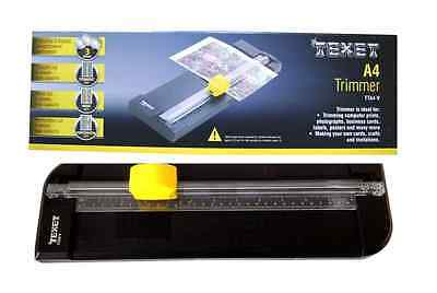 Texet A4 Trimmer 3 Blades Wave Perforation Straight Card Craft Guillotine Tta4-V