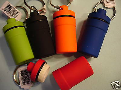 WHOLESALE Lot of 5 PILL CASES Water Resistant Keychains