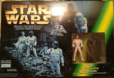 STAR WARS ESCAPE FROM THE DEATH STAR GAME WITH 2 EXCLUSIVE ACTION FIGURES.