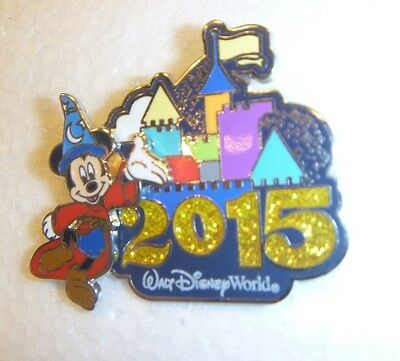 Disney pin  WDW - 2015 Dated Logo Pin - Sorcerer Mickey  BEAUTIFUL!