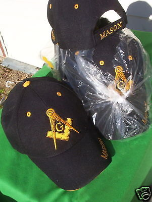 Wholesale Lot 12 Masonic Hats, cap style with logos new