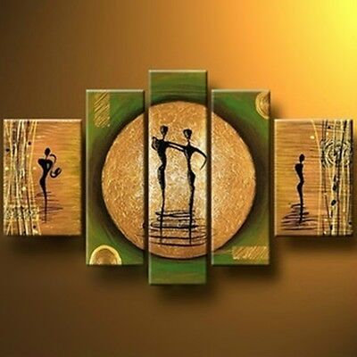 YHE117/ NO Frame/ Hand-painted Modern Abstract Large Oil Painting DANCE Wall Art