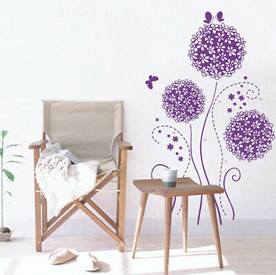 Hot Simple Purple Romance DIY Removable Wall Decal Art Words Home Decor Stickers