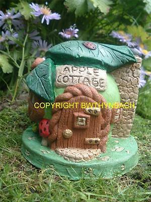 New Design Rubber Latex Mould Mold Moulds Apple Fairy Faerie House Cottage