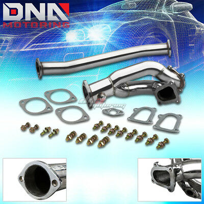 86-92 TOYOTA SUPRA MK3/MK III 1JZ-GTE STAINLESS SS TWIN TURBO DOWNPIPE DOWN PIPE