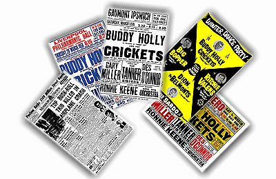 Buddy Holly - Set Of 5 A4 Posters # 2