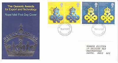 GREAT BRITAIN 1990 QUEEN'S AWARD EXPORT & TECHNOLOGY FIRST DAY COVER BASINGSTOKE