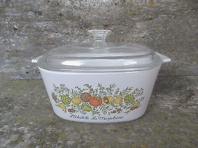 Vintage Corning Ware Spice Of Life 3 Qt Casserole Dish With Dome Lid Corelle