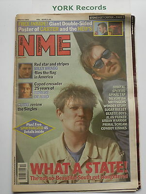 NEW MUSICAL EXPRESS NME - March 7 1992 - BEAUTIFUL SOUTH / BILLY BRAGG / ORBITAL