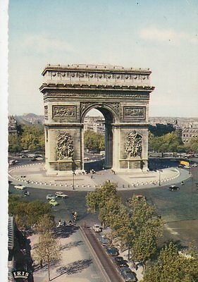Paris Arc de Triomphe 1963 Postcard France 0832