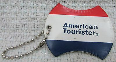 Red White Blue Vinyl Window ID Keychain American Tourister Luggage Tag FREE S
